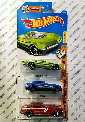 (x3) Hot Wheels Muscle Mania - MUSCLE SPEEDER, D-MUSCLE & CCM - Combo Shipping