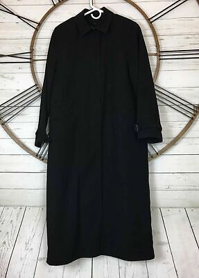 Anne Klein Womens  Size 20  Black Long Trench Coat Removable Lining