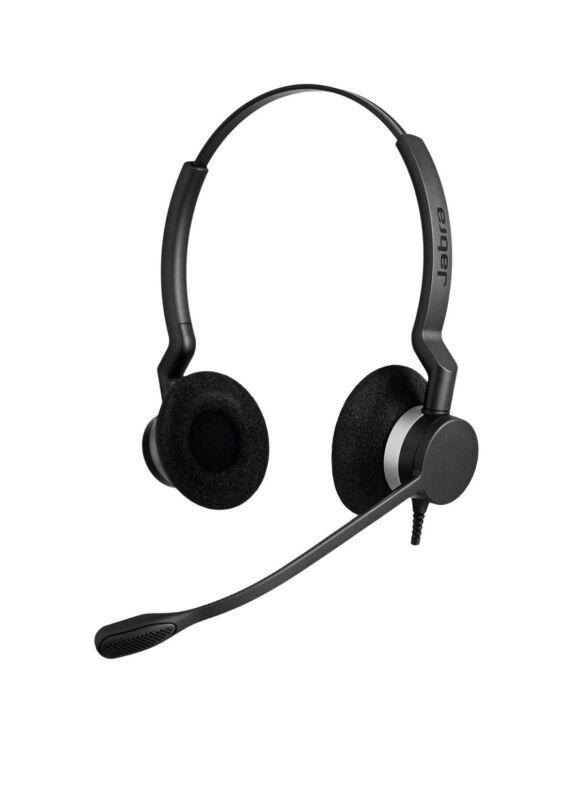 Jabra BIZ 2300 QD Duo Headset  2309-820-105 Brand New In Box Noise Cancellation