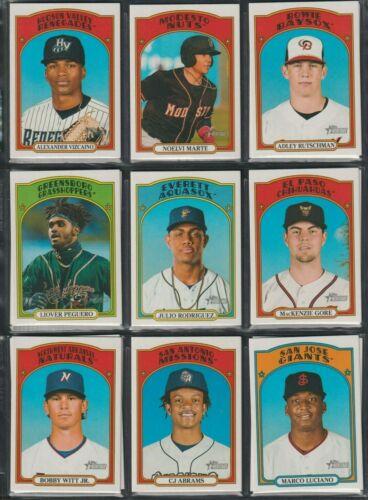 2021 Topps Heritage Minor League Baseball 1-220 Base & Short Prints You Choose