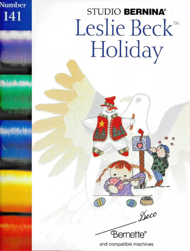 LESLIE BECK HOLIDAY #141 Embroidery Card - Brother, Bern. Deco, Baby Lock .pes