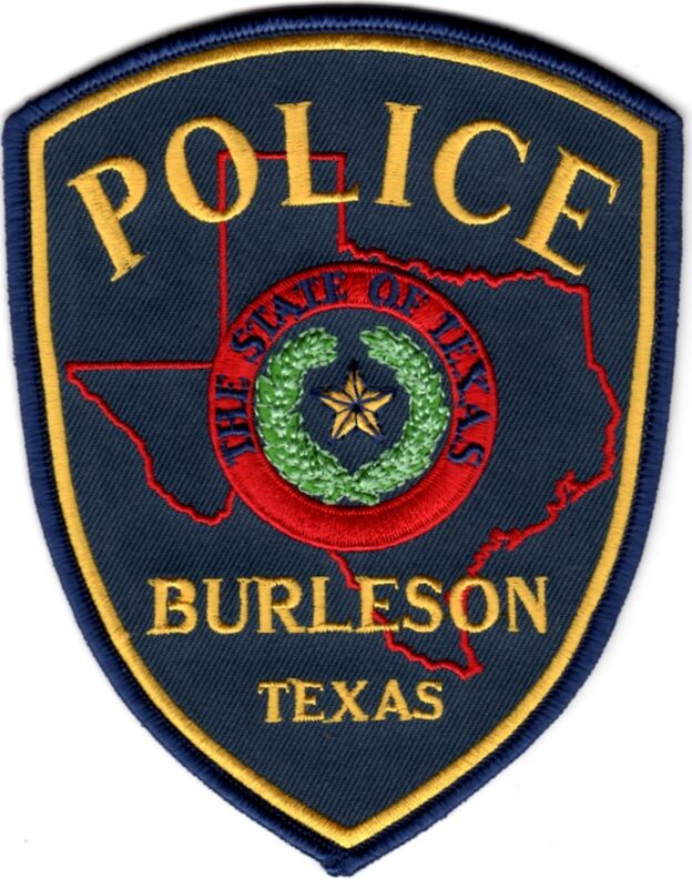 Burleson Police Patch Texas TX