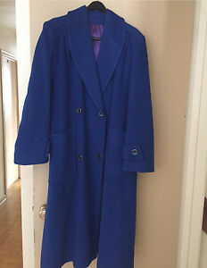 Woman's Full Length Wool Coat