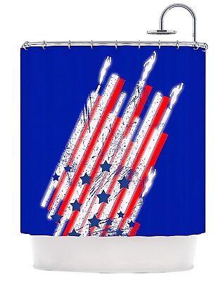 Kess InHouse GOING 4WARD USA Flag Shower Curtain, Hi Quality Fabric Retails $99