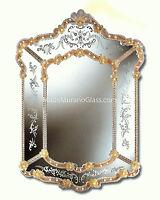 Specchio In Vetro Di Murano. Cm 95 X 68 Mirror Glass Murano. Mademuranoglass. -  - ebay.it