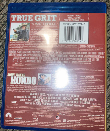True Grit 2010 / Hondo Double Feature Blu-ray - Very Good Condition - $12.99
