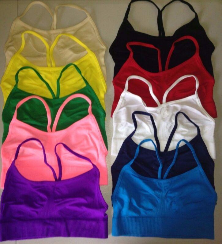 Bra Bralette Cropped Cami Camisole Stretchy Nylon Spandex Blend O/S Fits 7-16