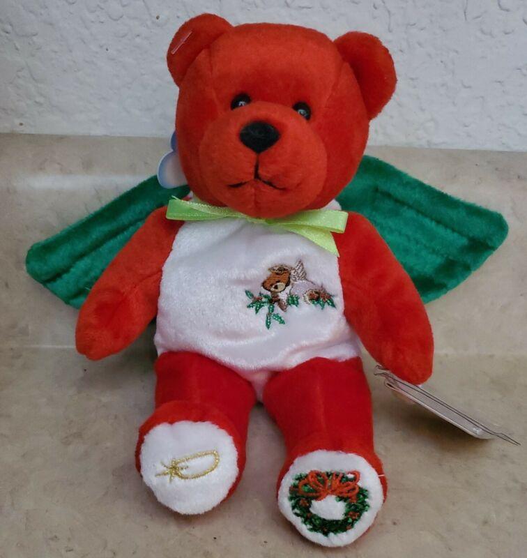 "Holy Bear * The Christmas Holy Angel Bear * 9"" beanbag plush 2001 With All Tags"