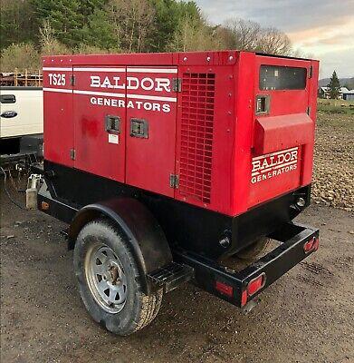 Baldor Ts25t 25 Kva Mobile Diesel Generator Set
