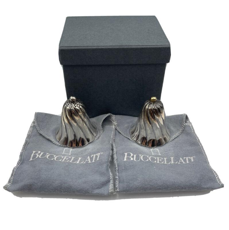 Gianmaria Buccellati Vintage Sterling Silver Pair Salt & Pepper Shakers Set #3