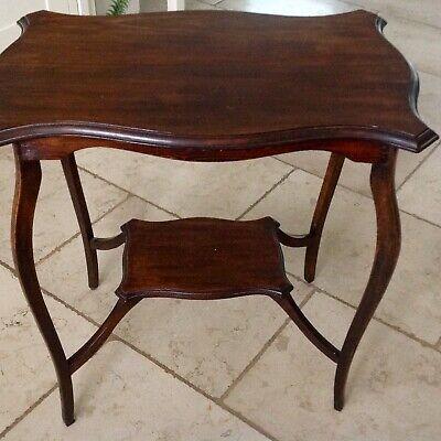 Antique 20th OCCASIONAL  RECTANGULAR  TABLE  EDGE ORNATE LEGS