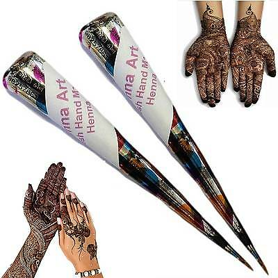 HENNA MEHNDI TATTOO KIT CONES Fresh Hand Made Henna pen