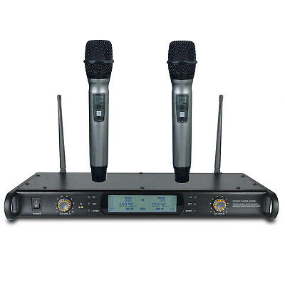 UHF Dual  Best Cordless Microphones for Karaoke Church Cordless Microphone