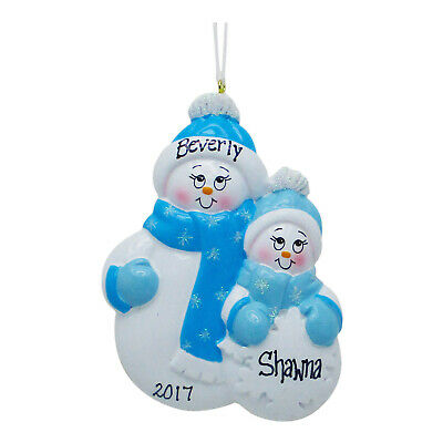 PERSONALIZED Single Parent Mom With 1 Child Christmas Gift Tree Ornament ()