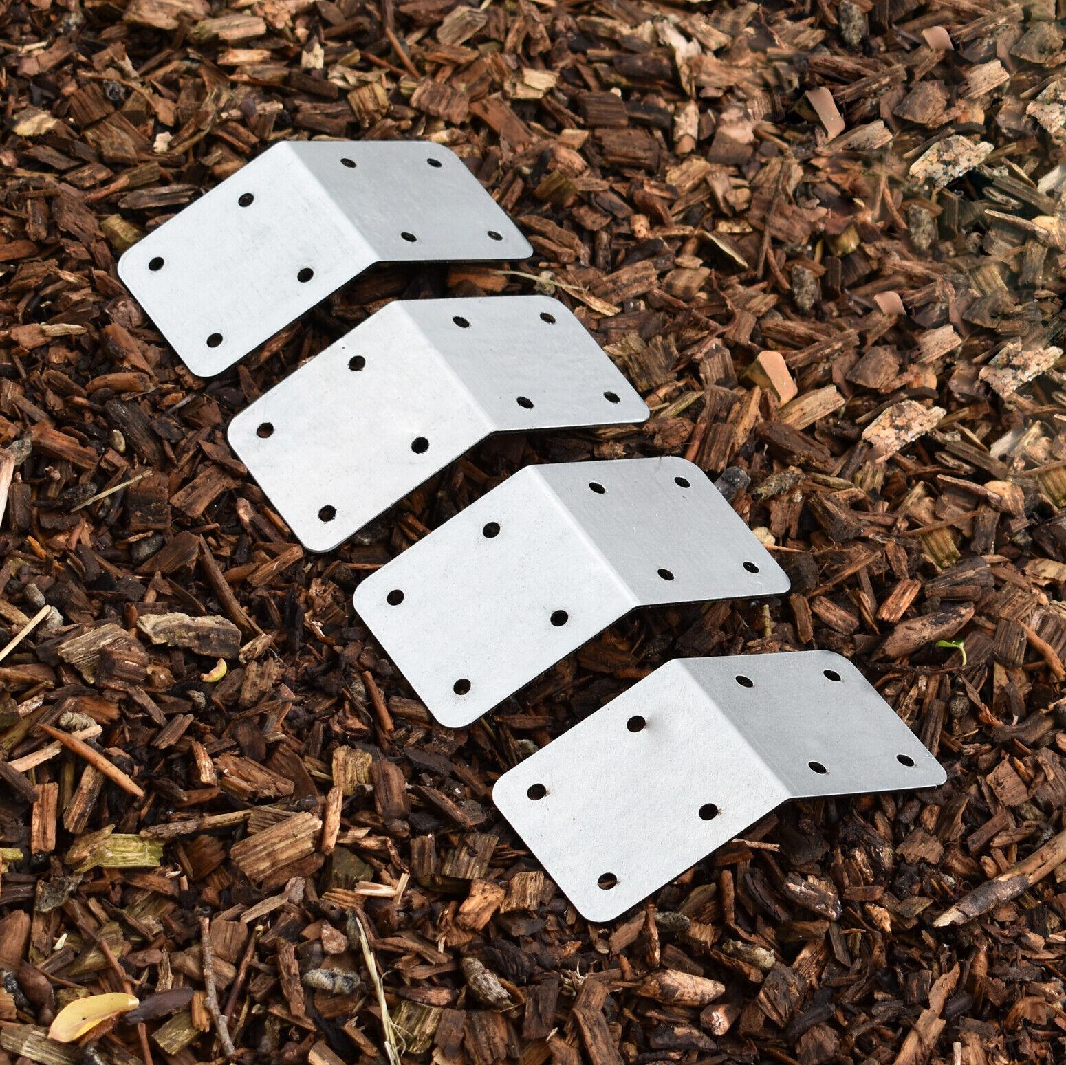 Galvanised Steel 45° Angle Garden Raised Bed Wood Timber