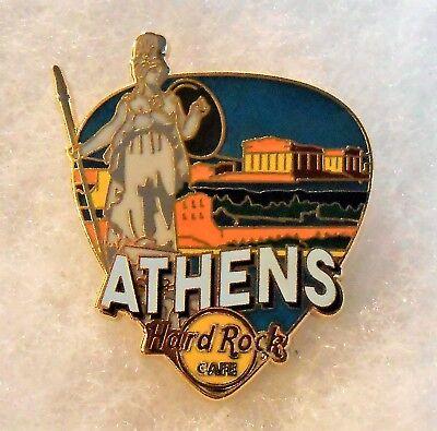 HARD ROCK CAFE ATHENS GREETINGS FROM GUITAR PICK SERIES PIN # 96629