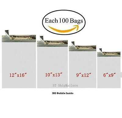 400 Combo Poly Mailers Envelope Each 100 6x9 9x12 10x13 12x16 - St Shipmailers