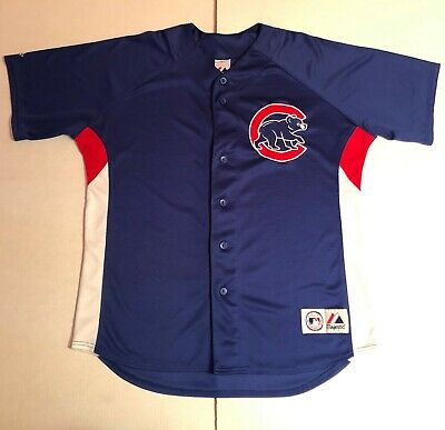 Majestic Genuine Merchandise Chicago Cubs Baseball Practice Jersey size XL Mens ()