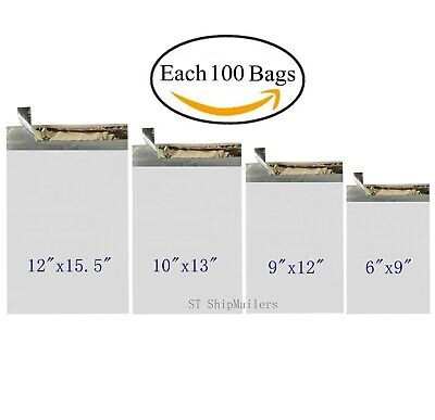 400 Poly Mailers Envelope Each 100 6x9 9x12 10x13 12x15.5 - St Shipmailers