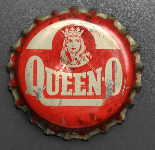 Vintage Used Red Queen-O Cork Soda Bottle Cap