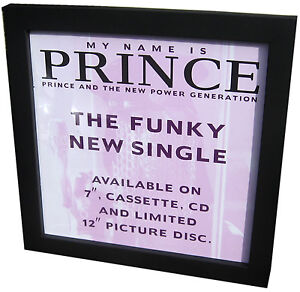 PRINCE-Framed-My-Name-Is-PROMO-ONLY-UK-Poster-Flat-Display-Card-Mint-original
