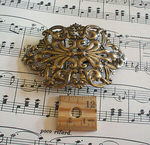 Large-Vintage-Brass-ox-bronze-Fancy-Belt-Buckle-BR-4