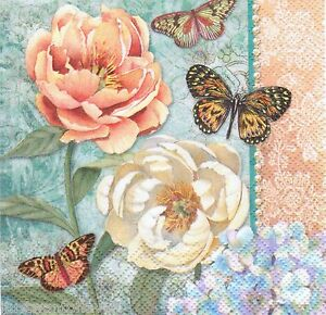 20-Vintage-Flowers-PAPER-NAPKINS-30516-Beverage-Crafts-Decoupage-Projects