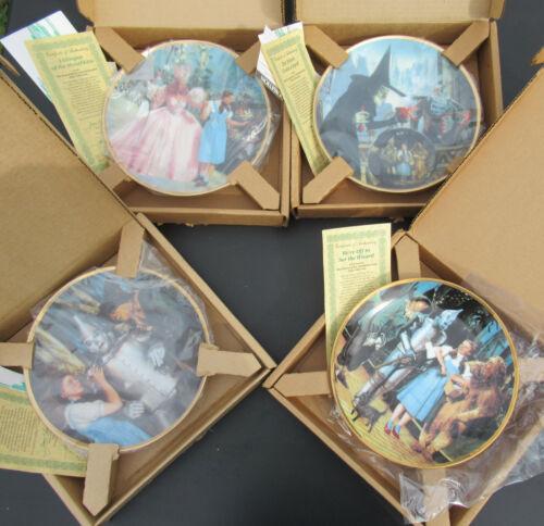 THE WIZARD OF OZ Hamilton Collector Plate Series set x 4 * COA BOX