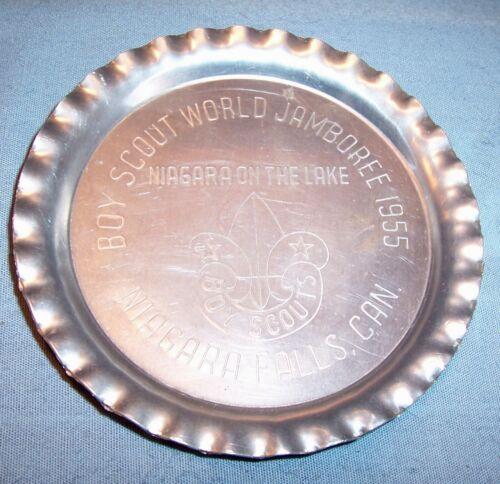 BSA Boy Scout Of America 1955 WORLD JAMBOREE Niagara Falls Souvenir Coaster Tray