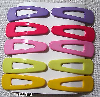 Lot de 10 barrettes pince à cheveux clic clac **5 cm** couleur assorties enfant