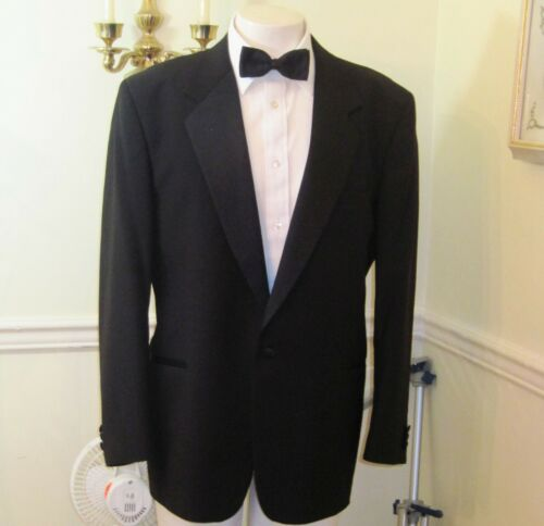 Mens~Tuxedo Suit~44R~FIALDINI~38 X 29~One Button~Notch Lapel~Ventless~Free Ship