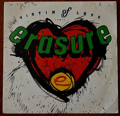 "Erasure – Victim Of Love 7"" – MUTE 61 – VG-"
