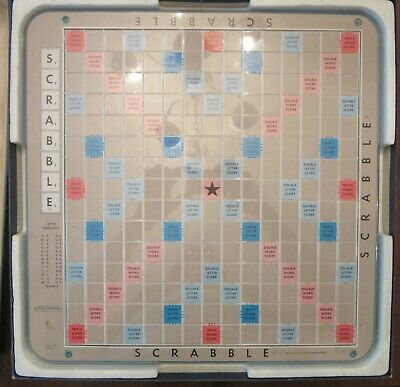 VINTAGE 1977 SCRABBLE DELUXE EDITION TILE LETTER WORD GAME TURNTABLE COMPLETE