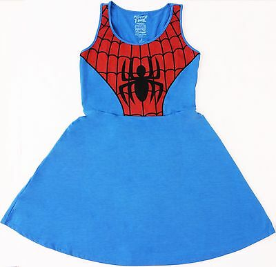Ladies Mighty Fine Marvel Heroes Spider-Man  Tank Tunic Costume Dress S M L XL](Spider Dress Costume)