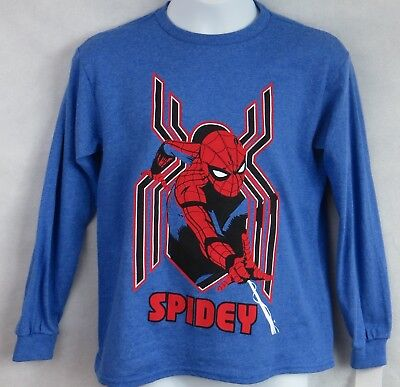 - Spider-Man Homecoming Boys T-Shirt Officially Licensed New Blue Marvel Spidey