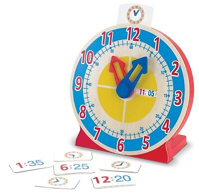 Melissa & Doug Turn and Tell Clock Learn the Time Early Learning Wooden Toy