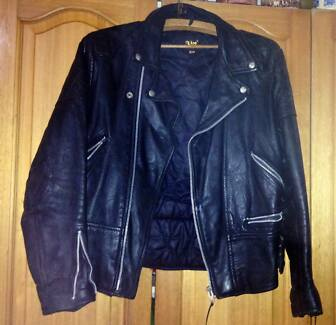 RealMotorBike Jacket Vintage BRANDO style With Armour VERY HEAVY