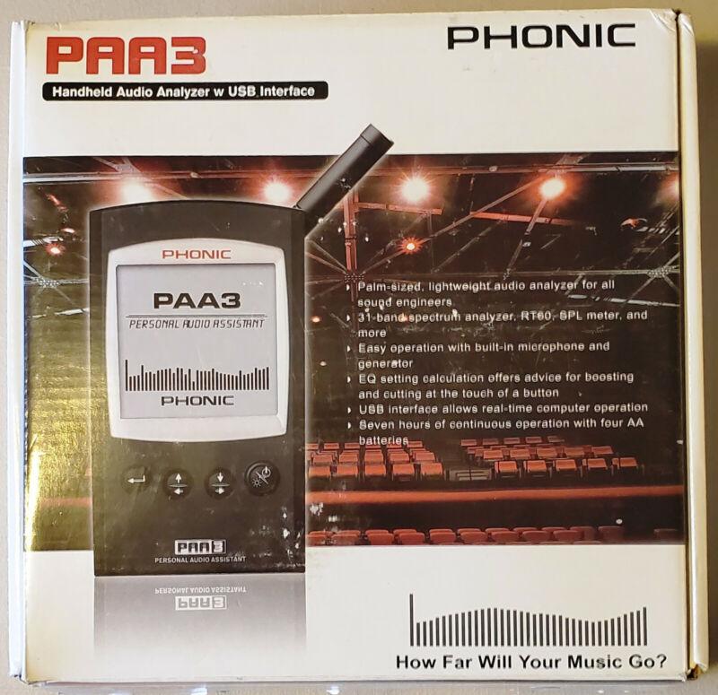 Phonic PAA3 Personal Audio Assistant Hand-Held Spectrum Analyzer w/ USB