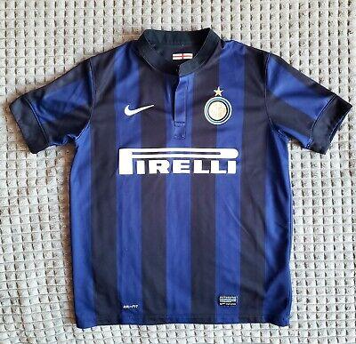 Inter Milan 2013/2014 Home Shirt Jersey Trikot Pirelli Nike YL image