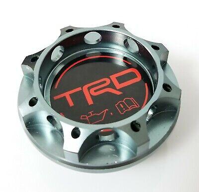 TRD Racing Gunmetal Engine Oil Filler Cap Oil Tank Cover Aluminium For TOYOTA
