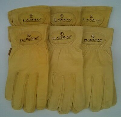6 Pairs Plainsman Goatskin Leather Wholesale Work Gloves Small New Free Ship
