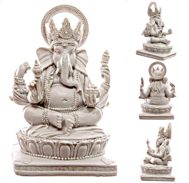 Ganesh ~ Lord Ganesha, Ganapati, Vinayaka ~ Hindu God ~ White ~ 13.5cm Tall