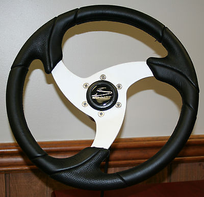 Schmitt Stella Folletto Black Boat Steering Wheel marine use only