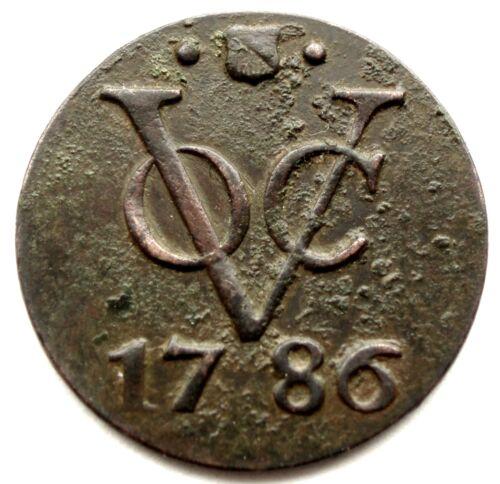 NETHERLANDS EAST INDIES, VOC UTRECHT 1 DUIT 1786 KM#111.1 SS2.3