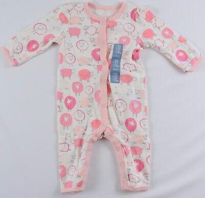 NWT Girls BabyGap One Piece Bodysuit Lamb Print 0-3/3-6/6-9 Mo  - 921602 Girls One Piece Bodysuit