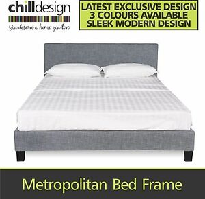WAREHOUSE DIRECT UPHOLSTERED DOUBLE & QUEEN FABRIC BED HEAD FRAME Moffat Beach Caloundra Area Preview