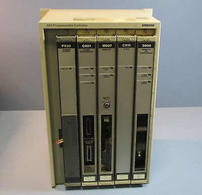 Modicon As-p930-104 984 Programmable Controller P1-984a-816 W Cards Used