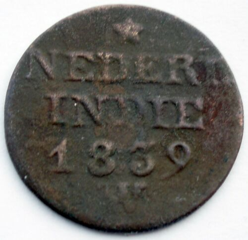 NETHERLANDS EAST INDIES 1 CENT 1839 W KM#290 II7.3