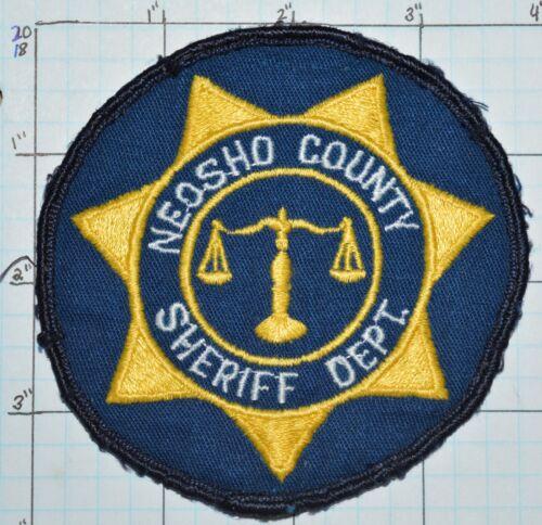 KANSAS, NEOSHO COUNTY SHERIFF DEPT ROUND PATCH