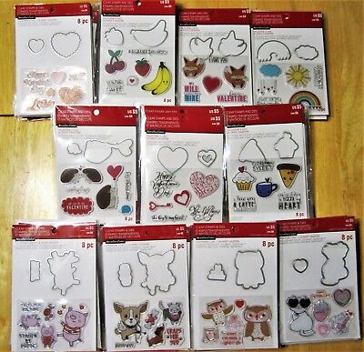 Cute Stamp and Die Sets by Recollections - Pick 1 of 11 NEW! Animals Valentines - Valentine Animals